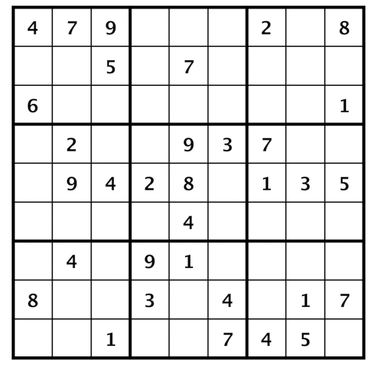 Sudoku Classic Exercise Sample