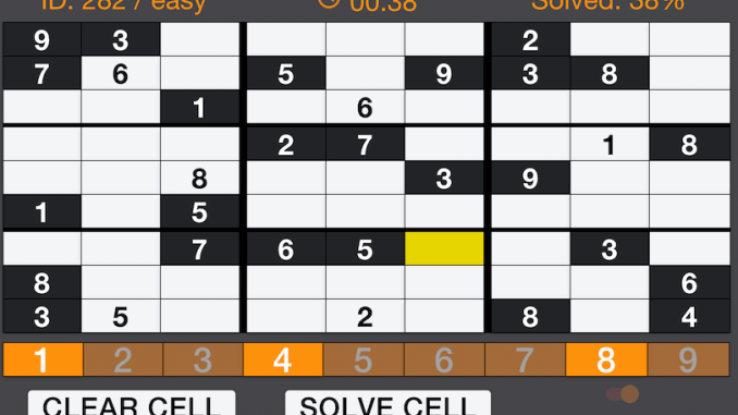 brain trainer exercise sudoku